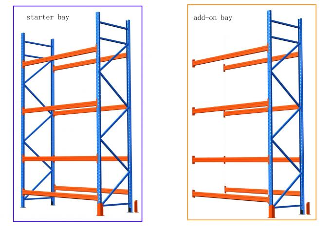 Carbon steel selective pallet rack with phosphorus antirust / spray powder finished