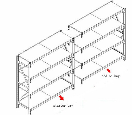Three levels pallet stock steel heavy duty shelving racks for industrial storage