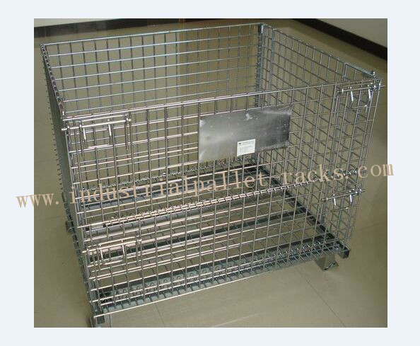 Large Stackable Steel Wire Mesh Cage W1200 * D1000 * H890mm Galvanized Finishes