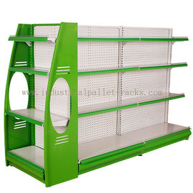 China Stores Supermarket Shelves Commercial Storage Rack Green / Grey / Orange / Pink / Blue supplier