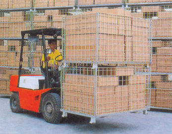 China Collapsible Wire Storage Cages 300kg To 1500kg Loading Capacity supplier