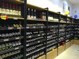 China Wine Display Rack Light Duty Shelving Wall Mounted 1200mm * 400mm * 2200mm supplier