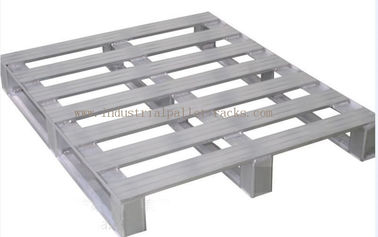 "China Heavy Duty Metal Pallets Warehouse Equipments Standard Size 40"" X 48"" Grey Color supplier"