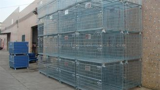 China Forklift Operation Collapsible Wire Containers Stacked Height Under 4 Meter supplier