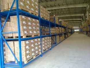 China Three levels pallet stock steel heavy duty shelving racks for industrial storage supplier