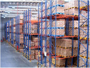 China Double Deep Industrial Pallet Racks , Warehouse Storage Steel Pallet Racking supplier