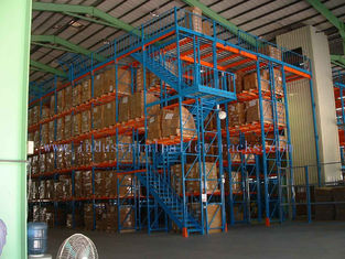 China Industrial Steel Mezzanine Floors Two Level Stair Warehouse System supplier