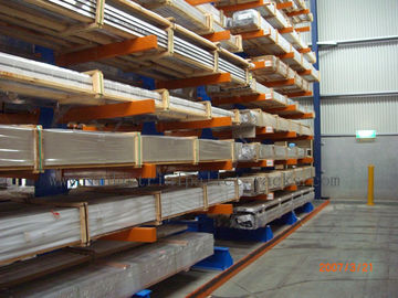 China Warehouse Cantilever Racking Systems Both Side for Aluminum Pipe supplier