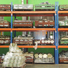industrial heavy duty storage shelves with wood board / cargo cage / pallet