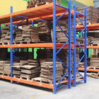 2000kg Blue / Orange pallet heavy duty shelving , customized stores racking system
