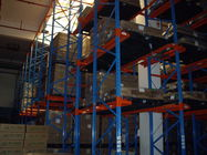 one access aisle Drive in industrial pallet racks for warehouse storage , 1500KG