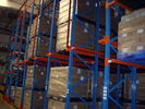 China Drive in / through industrial pallet racks , Cold room warehouse pallet shelving company