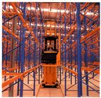 Blue / orange forklift movement very narrow aisle racking system , 1800mm to 2200mm