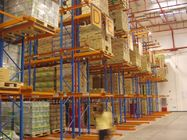 Steel spray powder coating finished very narrow aisle racking system