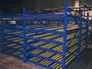 warehouse aluminum roller flow rack systems for Storing box / tray roller