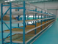 Durable customized Carton flow rack , aluminum alloy roller storage racking system