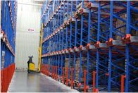 Food industry pallet shuttle racking system with forklift truck / shuttle machines