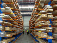 China Irregular Pipe Cargo Stock Cantilever Shelving Heavy / Light Module company