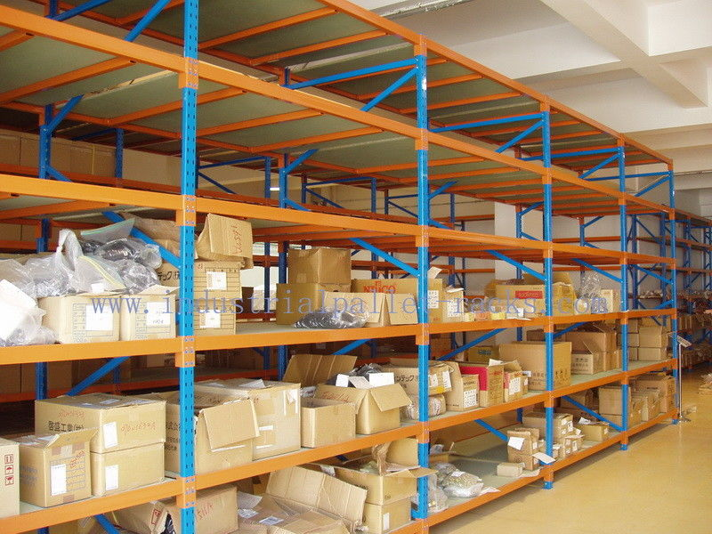 teardrop multi layer 82ft25m industrial metal shelving in warehouse storage solution - Industrial Metal Shelving