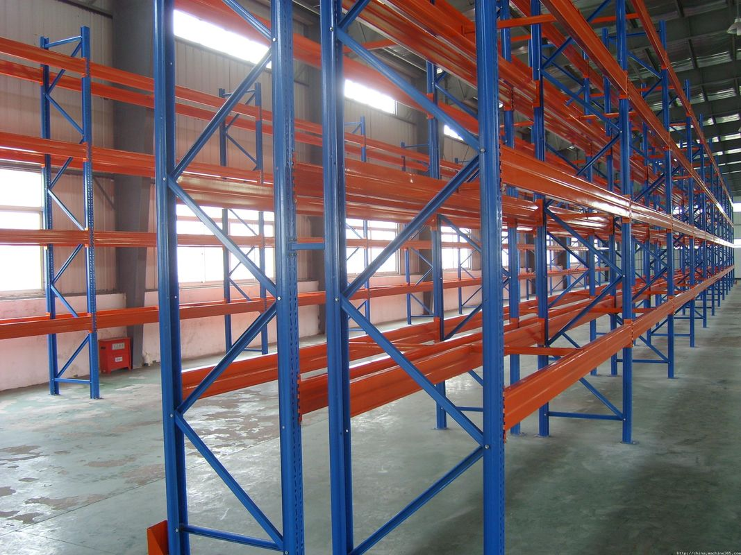 Heavy Duty Selective Steel Storage Pallet Rack Systems With Spray Powder Paint