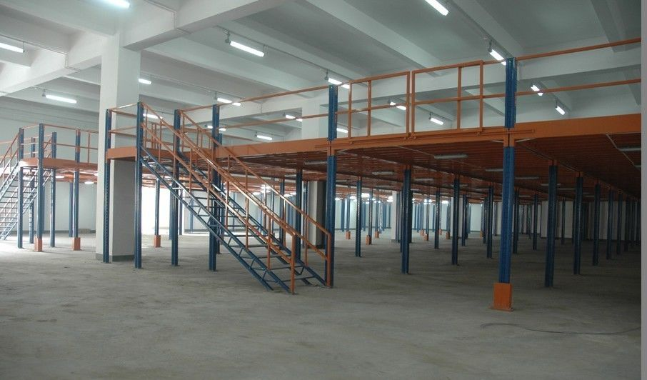 medium duty industrial storage mezzanine floor steel platform for electronic. Black Bedroom Furniture Sets. Home Design Ideas