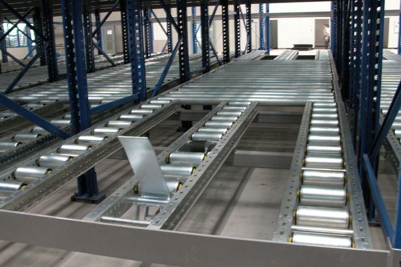 1000kg Logistic Distribution Central Gravity Flow Racks