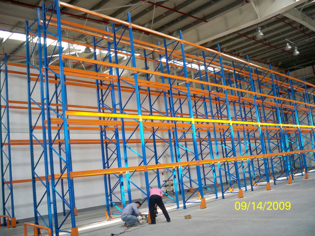 Blue And Orange Adjustable Pallet Racking