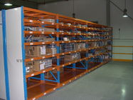 7 Level Stainless Steel Shelving With Side Panel Blue / Orange / Grey Color