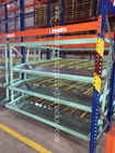 Warehouse System Carton Flow Rack  Metal Live Picking Storage For Manual Gravity